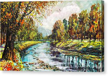 Olza River Canvas Print
