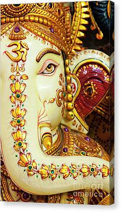 Ganapati Canvas Print - Om Ganesha by Tim Gainey
