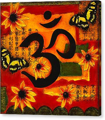 Canvas Print featuring the mixed media Om by Gloria Rothrock
