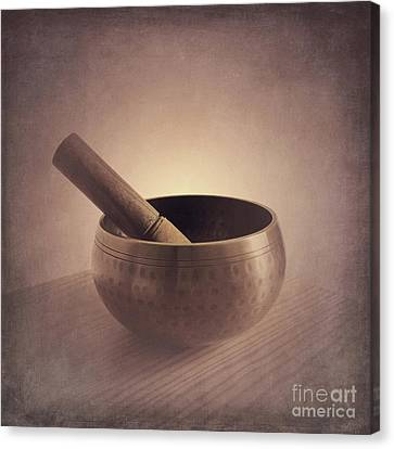 Canvas Print featuring the photograph Om Singing Bowl by Chris Scroggins