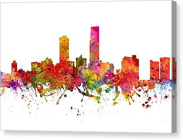 Omaha Cityscape 08 Canvas Print by Aged Pixel