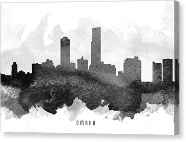 Omaha Cityscape 11 Canvas Print by Aged Pixel