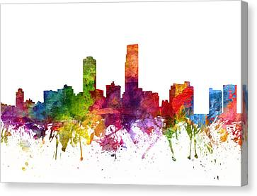 Omaha Cityscape 06 Canvas Print by Aged Pixel