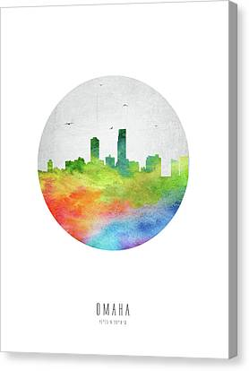 Omaha Skyline Usneom20 Canvas Print by Aged Pixel