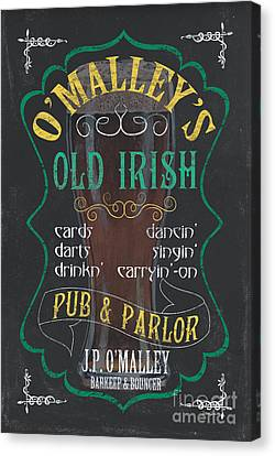 O'malley's Old Irish Pub Canvas Print by Debbie DeWitt