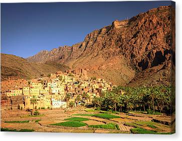 Omani Village In The Mountains Canvas Print by Alexey Stiop