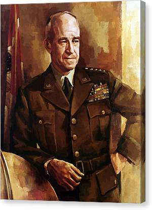 Omar Bradley Canvas Print by War Is Hell Store
