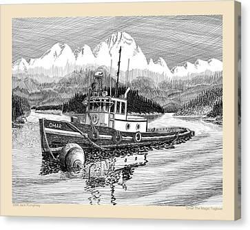 Omar The Magic Tugboat Canvas Print by Jack Pumphrey