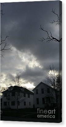 Ominous Clouds Canvas Print by Diamante Lavendar