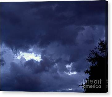 Canvas Print featuring the photograph Ominous Clouds by Terri Mills