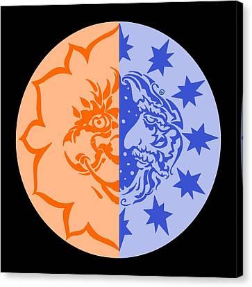 Omniscire Eclipse Logo Canvas Print by Dawn Sperry