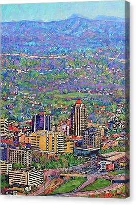 On A Clear Day - A View From Mill Mountain Canvas Print
