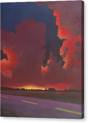 On A Dark Desert Highway Canvas Print by Jack Malloch
