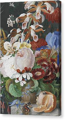 On A Marble Ledge   Detail Canvas Print by Franz Bauer