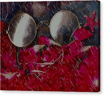 On A Rainy Day Its Fine To Be Inside Canvas Print