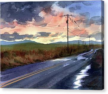 On A Road Side Canvas Print by Sergey Zhiboedov
