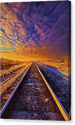 Canvas Print featuring the photograph On A Train Bound For Nowhere by Phil Koch