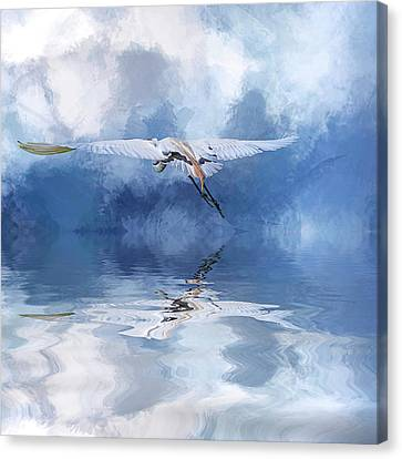 On A Wing And A Prayer Canvas Print by Cyndy Doty
