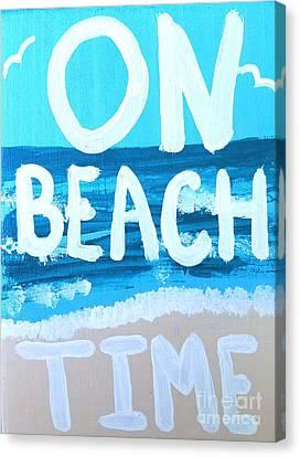 Shoreline Old Men Canvas Print - On Beach Time by Scott D Van Osdol