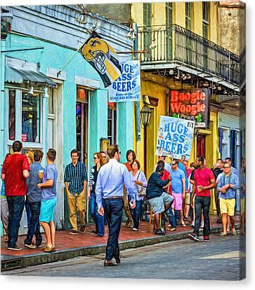 On Bourbon Street - Paint Canvas Print