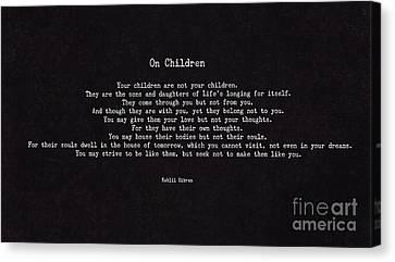 On Children Canvas Print by Liesl Marelli