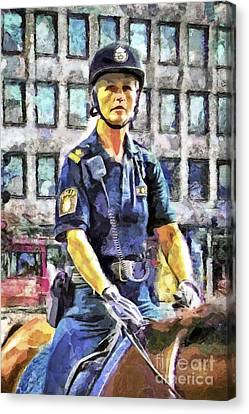 On Duty Canvas Print by GabeZ Art