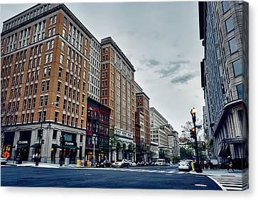 Crosswalk Canvas Print - On F Street - Washington D C by Mountain Dreams