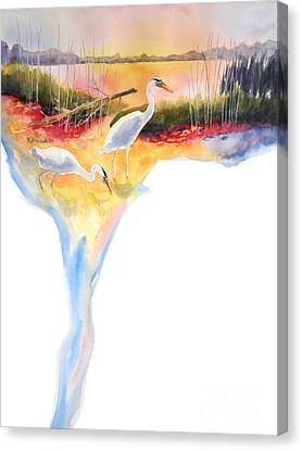 On Fire Canvas Print by Kathy Braud