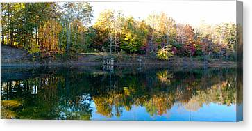 Canvas Print featuring the photograph On Gober's Pond by Max Mullins