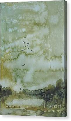 On Golden Pond Canvas Print by Elizabeth Carr