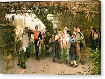 On Leave Canvas Print by Wilhelm Zimmer