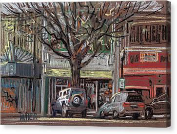 On Marietta Square Canvas Print by Donald Maier