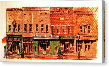 On Market Square Canvas Print