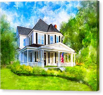 Victorian Canvas Print - On Memory Lane - Montezuma Georgia by Mark Tisdale
