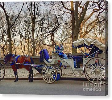 On My Bucket List Central Park Carriage Ride Canvas Print