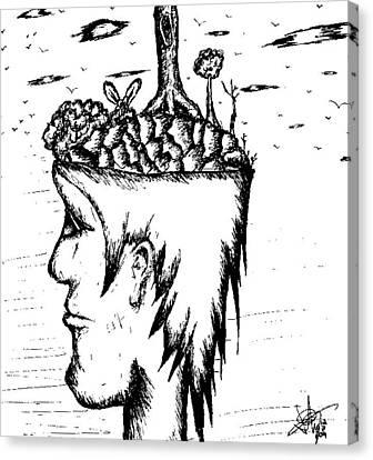 On My Mind Canvas Print by Jera Sky