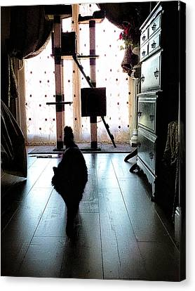 Kitty Canvas Print - On My Way by Camille Lopez