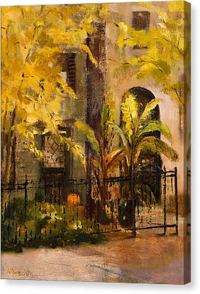On Orleans In Old Town  Canvas Print by Nancy Albrecht