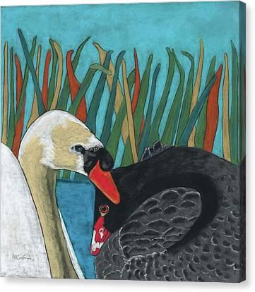On Peaceful Pond Canvas Print