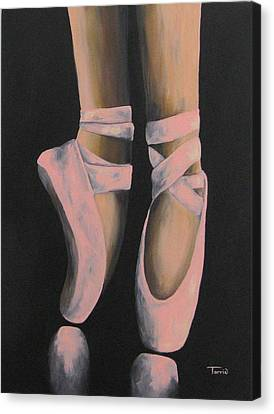 Ballet Dancers Canvas Print - On Point IIi by Torrie Smiley