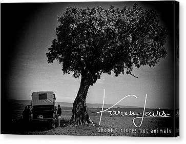 Canvas Print featuring the photograph On Safari by Karen Lewis