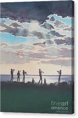 Canvas Print - On Shore Jazz by Karol Wyckoff