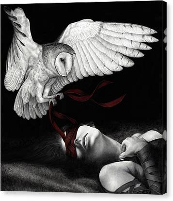 Figurative Canvas Print - On Silent Wings by Pat Erickson