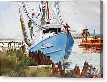 On The Back Bay Biloxi Canvas Print