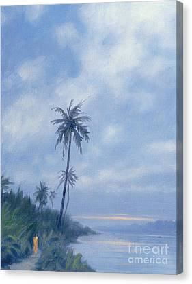 On The Backwaters Canvas Print by Derek Hare