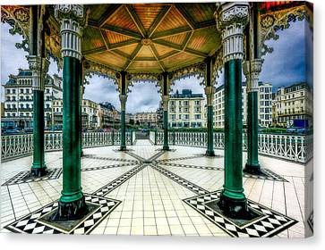 Canvas Print featuring the photograph On The Bandstand by Chris Lord