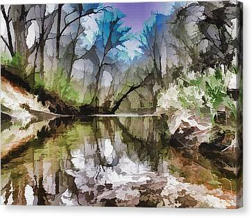 On The Bank Canvas Print by Tom Druin