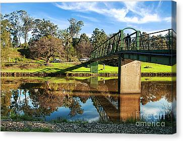 Canvas Print featuring the photograph On The Banks Of The River By Kaye Menner by Kaye Menner
