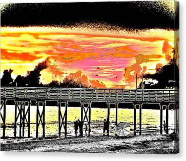 On The Beach Canvas Print by Bill Cannon