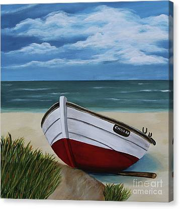 On The Beach Canvas Print by Christiane Schulze Art And Photography